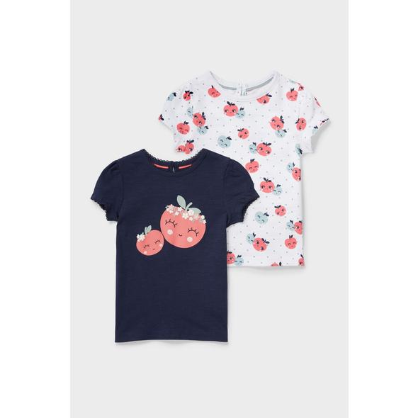 Multipack 2er - Baby-Kurzarmshirt - Bio-Baumwolle