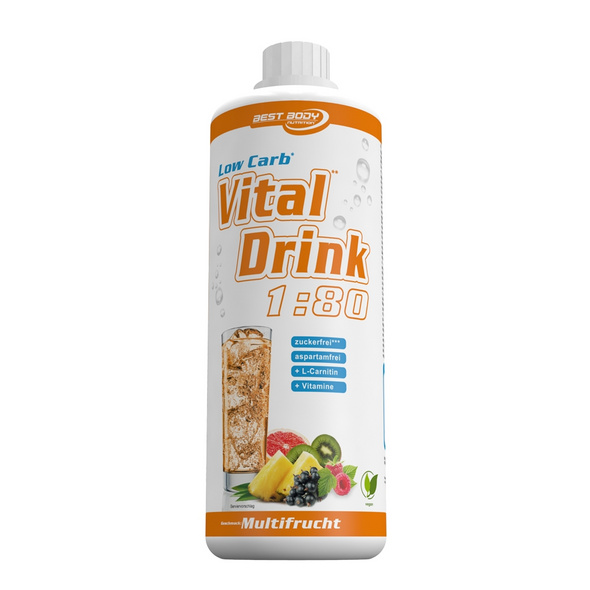 Best Body Nutrition Low Carb Vital Drink 1000ml-Energy