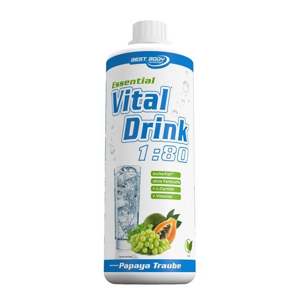 Best Body Nutrition Essential Vital Drink 1000ml-Birne Melisse
