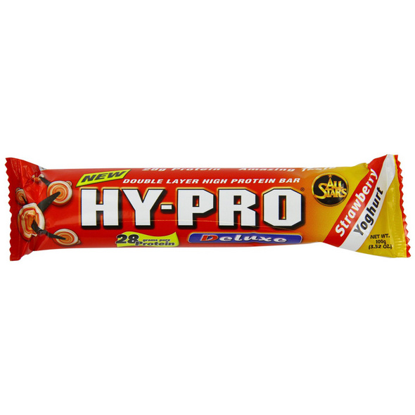 All Stars Hy-Pro Bar Deluxe 100g-White Chocolate Crunch