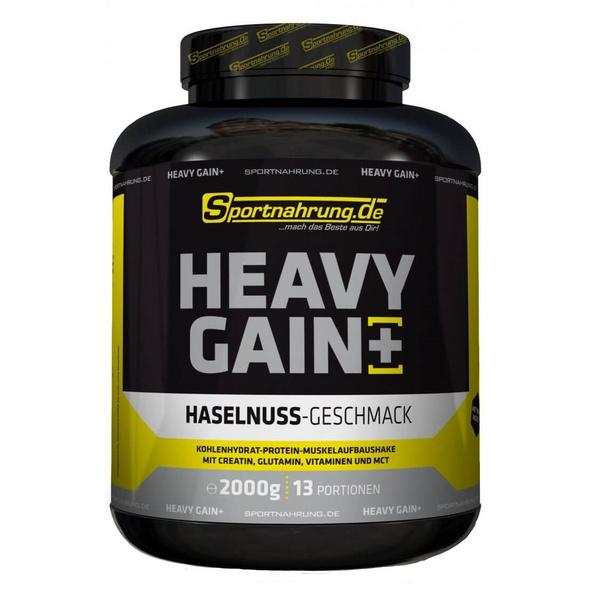 Sportnahrung.de Heavy Gain - der Top Weight Gainer angereichert mit Creatin. Glutamin. Vitaminen und MCT Vanille. 2000 g