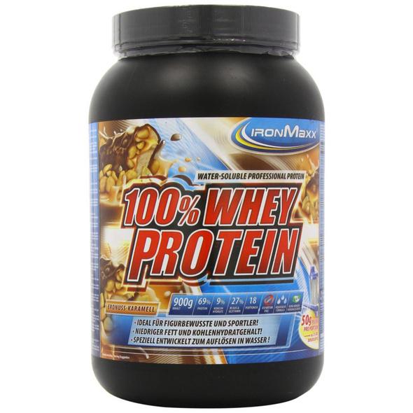 IronMaxx 100% Whey Protein 900g-Erdbeere Weisse Schokolade
