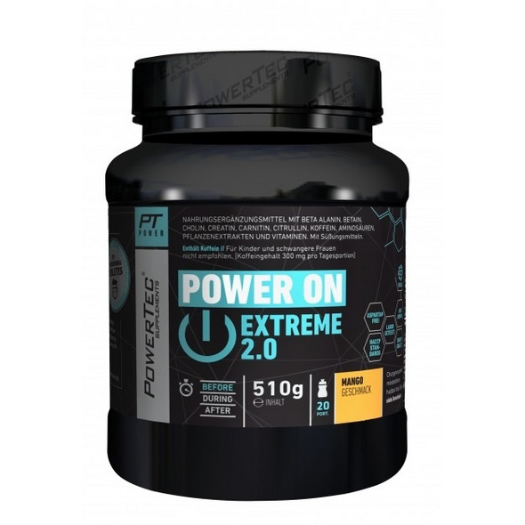 PowerTec Power ON Extreme 2.0 510g-Mango