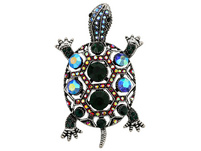 Brosche - Crystal Turtle