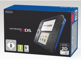 Nintendo 2DS Konsole schwarz-blau
