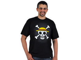One Piece - Skull With Map T-Shirt schwarz