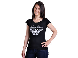 Wonder Woman - Logo Damen T-Shirt schwarz