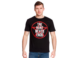 The Hunt Never Ends T-Shirt für Supernatural Fans schwarz
