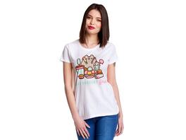 Pusheen - Eat Dessert First T-Shirt Damen weiß
