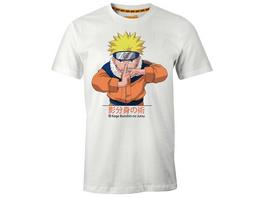 Naruto Uzumaki Kage Bunshin no Jutsu T-Shirt weiß