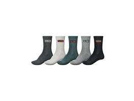 Hilite Crew 5Pk 7-11 Socks