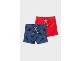 Multipack 2er - Baby-Shorts - Bio-Baumwolle