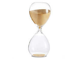 Sanduhr 'Time Out' 5 Minuten, gold