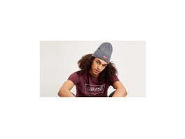 Levi's® Logo Embroidered Slouchy Beanie