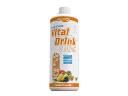 Best Body Nutrition Low Carb Vital Drink 1000ml-Granatapfel - Cranberry