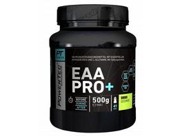 POWERTEC SUPPLEMENTS EAA Pro+ Drink - Pulver mit essentiellen Aminosäuren und Glutamin - für raschen Muskelaufbau. Muskelerhalt und Regeneration Cola. 500 g