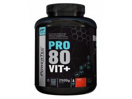POWERTEC SUPPLEMENTS Pro 80 Vit+ - hochwertiges Proteinpulver mit Vitaminen  Zink und Chrom - rasche  anhaltende Eiweißversorgung (Neutral)  2500g